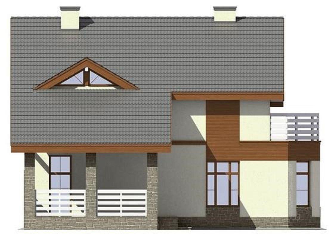 Проект коттеджа проект дома из газобетона с мансардой, терра.